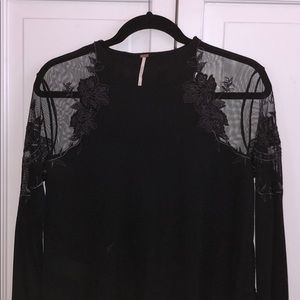 LIKE NEW black free people long sleeve